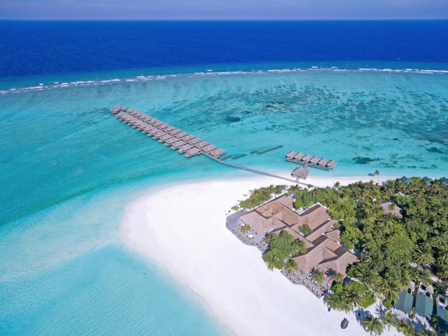 Top vakantie Noord Male Atol 🏝️Meeru Island Resort en Spa