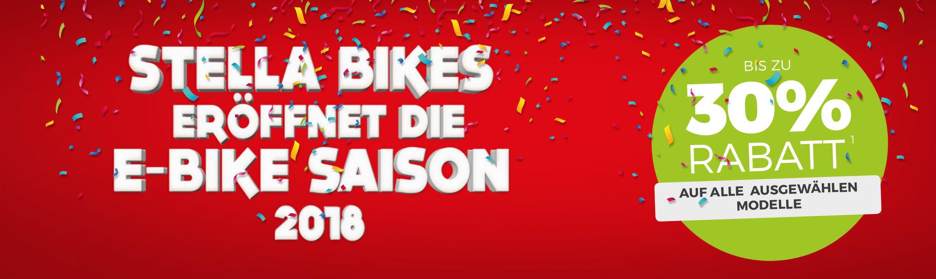 Stella Bikes eröffnet die E-Bike Saison 2018
