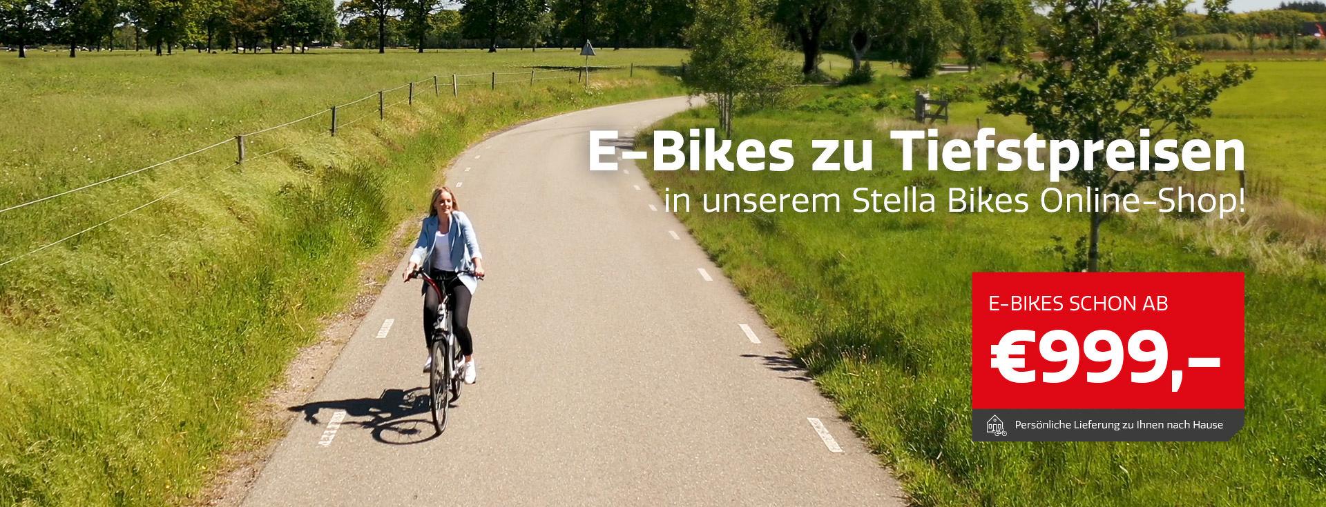 Stella E-Bikes zu Tiefstpreisen!