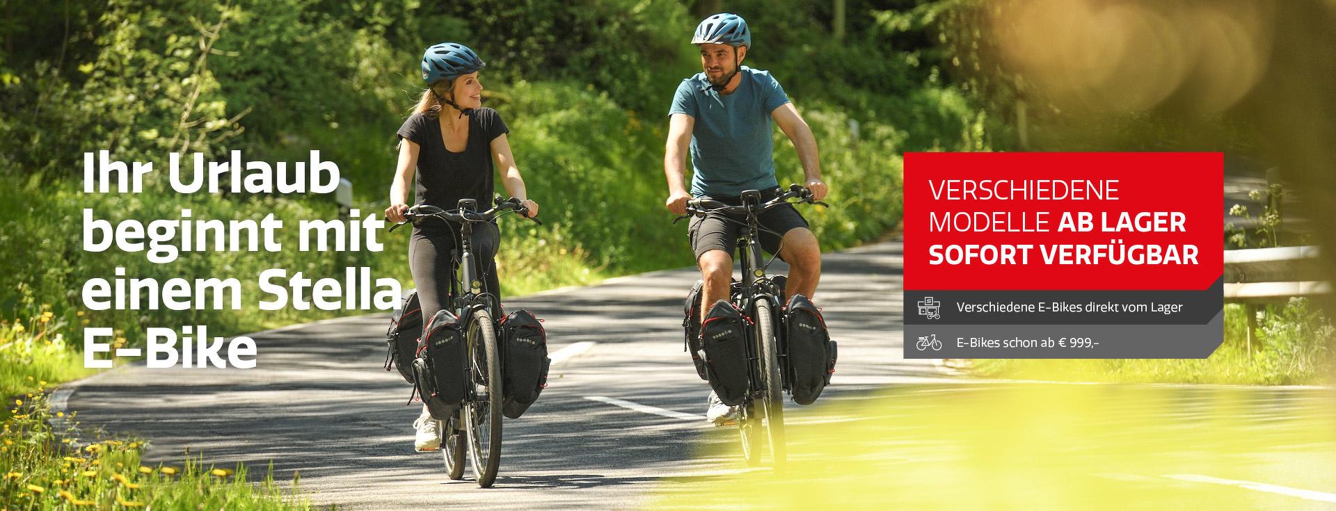 Ihr Urlaub beginnt mit einem Stella E-Bike Avalon