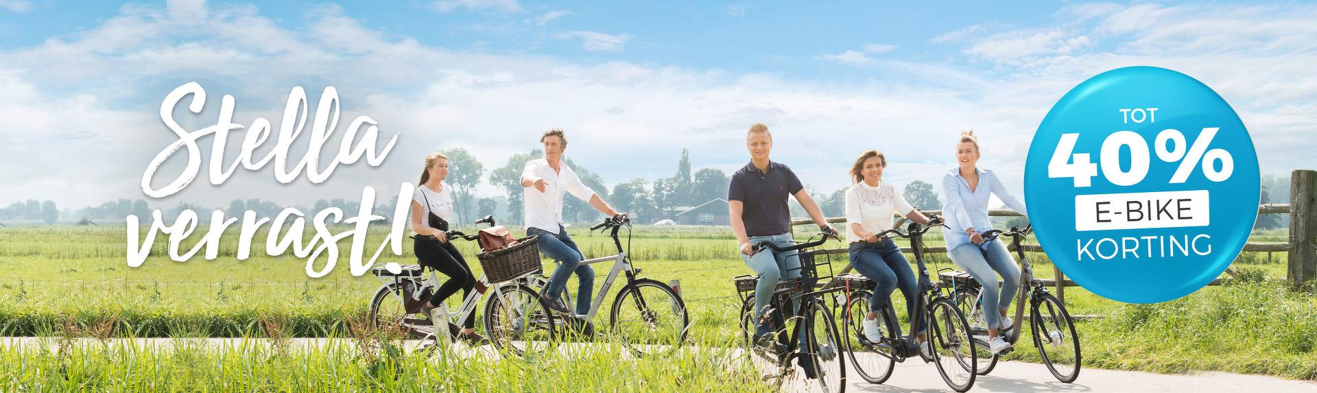 Stella Verrast - Verrassingskorting tot 40% op alle Stella e-bikes!