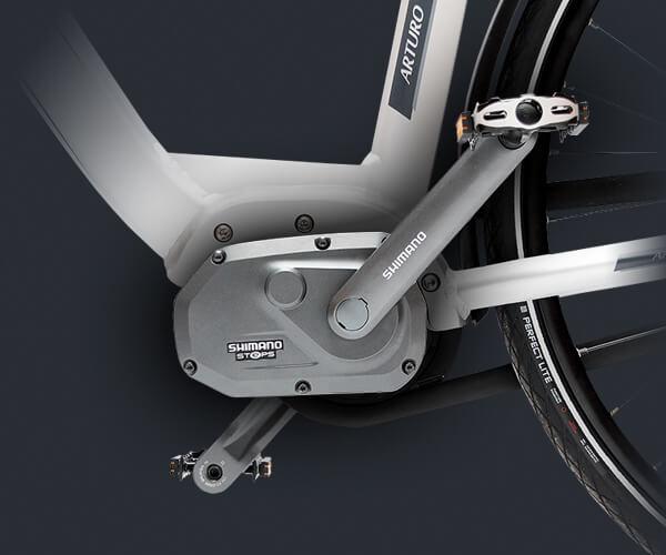 Elektrisches Fahrrad mit Shimano Steps Mittelmotor