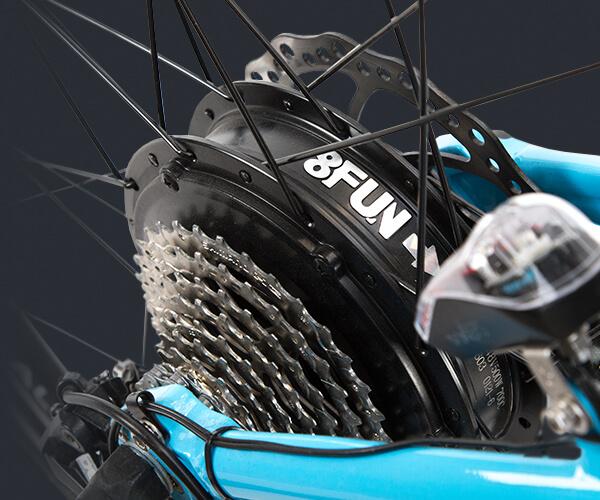 Elektrische Fahrräder mit Hinterradmotor