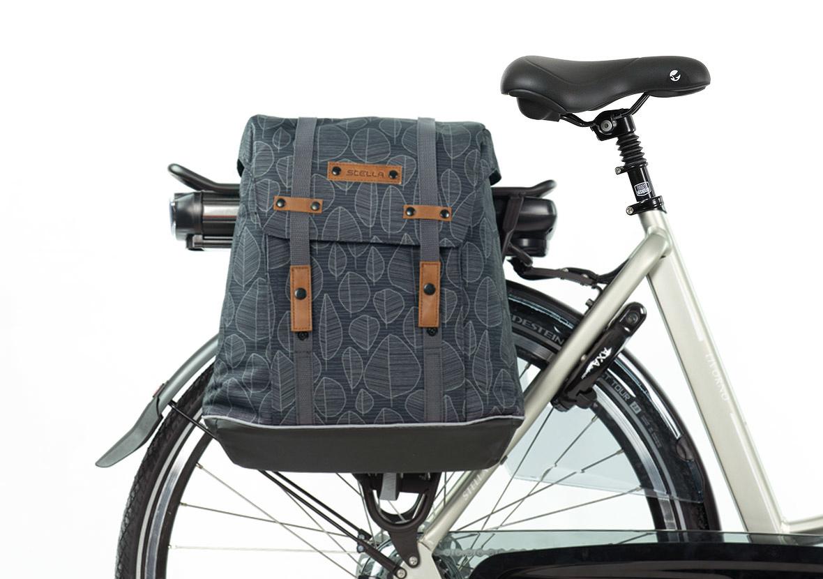 Stella Lucera black - dubbele fietstas