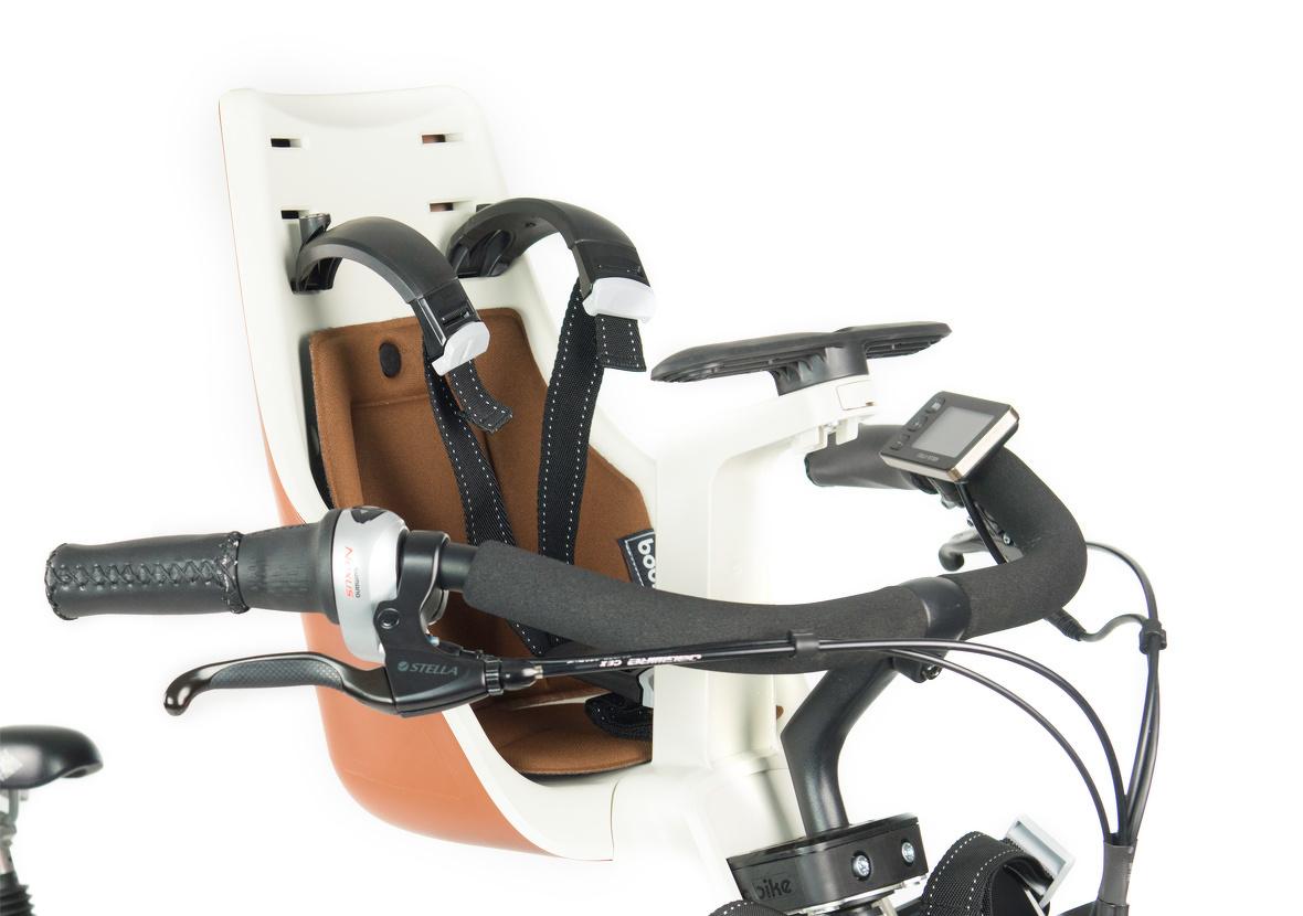 Bobike Exclusive Mini Cinnamon Brown fietsstoeltje - Stella