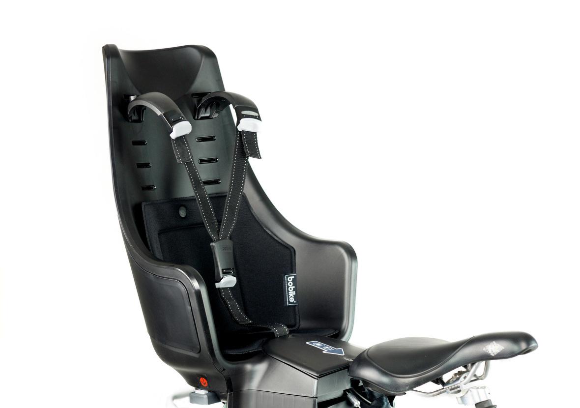 Bobike Exclusive Maxi Urban Black fietsstoeltje - Stella