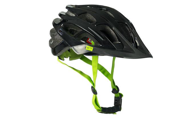 Contec fietshelm Zwart/ Neogreen