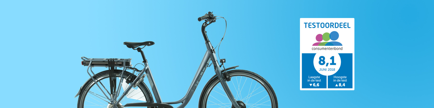 Consumentenbond E-bike Test 2018 - Copenhague Light 'Consumentenbond Aanrader'