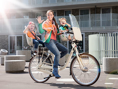 Veilig fietsen met (klein)kinderen achterop
