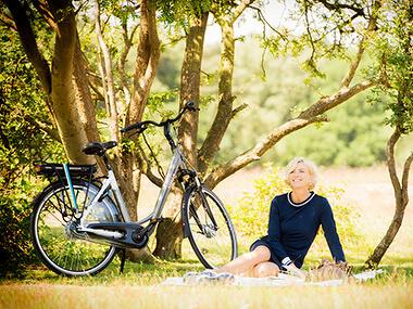 Tropische temperaturen, fietsen met warm weer