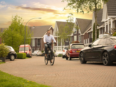 Met de e-bike naar je werk, ideaal!