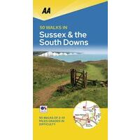 AA Publishing Wandelgids 50 Walks In Sussex & The South Downs