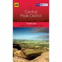 AA Publishing Topografische Kaart 7 Central Peak District