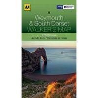 AA Publishing Wandelkaart 05 Weymouth & Dorset South 1:25.000