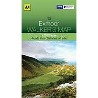 AA Publishing Wandelkaart 13 Exmoor 1:25.000