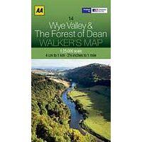 AA Publishing Wandelkaart 14 Wye Valley & The Forest Of Dean