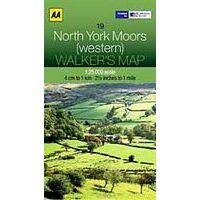 AA Publishing Wandelkaart 19 North York Moors West 1:25.000