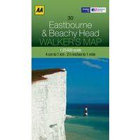 AA Publishing Wandelkaart 30 Eastbourne & Beachy Head 1:25.000