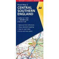 AA Publishing Wegenkaart 2 Zuid-Engeland Centraal 1:200.000