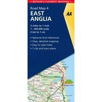 AA Publishing Wegenkaart 4 East Anglia