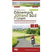 ADFC Radtourkarte Fietskaart Jutland Zuid - Funen (Denemarken)