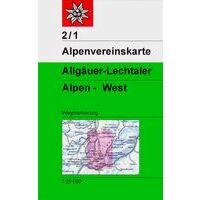 Alpenvereinskarte Wandelkaart 2/1 Allgäuer & Lechtaler Alpen West