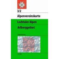 Alpenvereinskarte Wandelkaart 3/2 Lechtaler Alpen