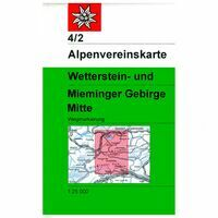 Alpenvereinskarte Wandelkaart 4/2 Wetterstein- Und Mieminger Gebirge Mitte