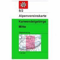 Alpenvereinskarte Wandelkaart 5/2 Karwendelgebirge Mitte