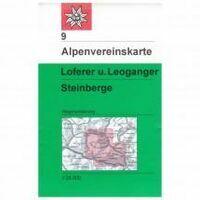 Alpenvereinskarte Wandelkaart 9 Loferer-und Leoganger Steinberge