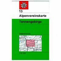 Alpenvereinskarte Wandelkaart 13 Tennengebirge