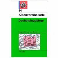 Alpenvereinskarte Wandel-skikaart 14 Dachsteingebirge