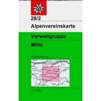 Alpenvereinskarte Wandelkaart 28/2 Verwallgruppe Mitte