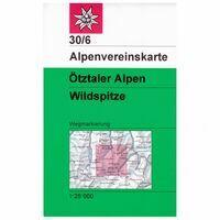 Alpenvereinskarte Wandel-skikaart 30/6 Ötztaler Alpen