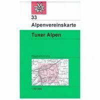 Alpenvereinskarte Wandelkaart 33 Tuxer Alpen