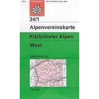 Alpenvereinskarte Wandelkaart 34/1 Kitzbüheler Alpen West