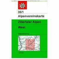 Alpenvereinskarte Wandelkaart 35/1 Zillertaler Alpen West