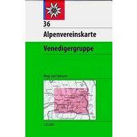 Alpenvereinskarte Wandel-skikaart 36 Venedigergruppe