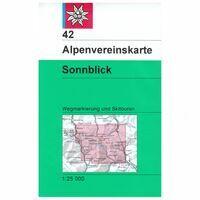 Alpenvereinskarte Wandel-skikaart 42 Sonnblick