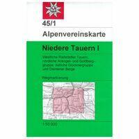 Alpenvereinskarte Wandelkaart 45/1 Niedere Tauern I