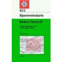 Alpenvereinskarte Wandelkaart 45/3 Niedere Tauern III