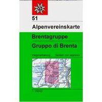 Alpenvereinskarte Wandelkaart 51 Brentagruppe