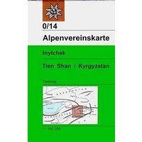 Alpenvereinskarte Trekkingkaart 0/14 Inylchek - Tien Shan - Kyrgyzstan