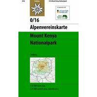 Alpenvereinskarte Klimkaart 0/16 Mount Kenya Nationalpark