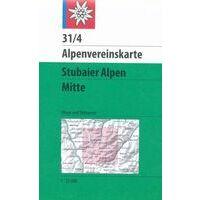 Alpenvereinskarte Topografische Kaart 31/4 Stubaier Alpen Mitte