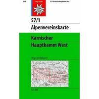 Alpenvereinskarte Topografische Kaart 57/1 Karnischer Hauptkamm West