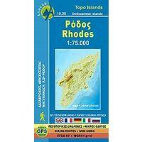 Anavasi Wandelkaart 10.38 Rhodos