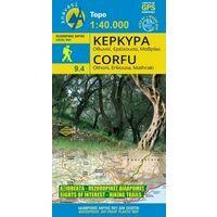 Anavasi Wandelkaart 9.4 Corfu - Erikousa - Mathraki