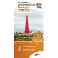 ANWB Fietskaart 3 Schiermonnikoog - Groningen Noordwest