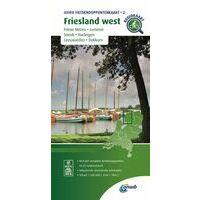 ANWB Fietsknooppuntenkaart 2 Friesland West